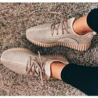 Adidas Yeezy boost Men and women fashion casual Joker simple sports shoes