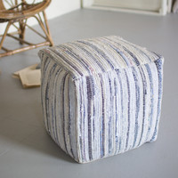 Recycled Fabric Rag Pouf