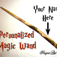 Magic Wand Hary Potter Style. Personalized Wizard Wand, Your Name On Your Magic Wand. Unique Gift For Weddings, Birthday. Beautiful Toys