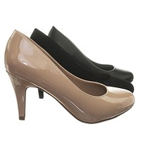 GuideW Classic Wide Width Comfortable Foam Padded Mid Heel Round Toe Dress Pump