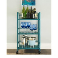 Porch & Den Wicker Park Julian 3-shelf Rolling Utility Cart | Overstock.com Shopping - The Best Deals on Kitchen Carts