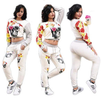 2017 Trending Fashion Floral Printed Floral Printed Handkerchief Trousers Pants _ 10910