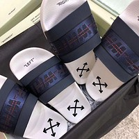 OFF WHITE C/O VIRGIL ABLOH 19SS Arrow letters slippers-1