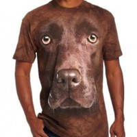 The Mountain Men's Chocolate Lab Face T-Shirt