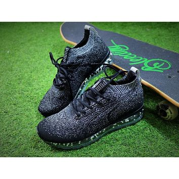 2018 PUMA Jamming Cushion Forest Night Trainer Men Black White / Snowflake / Ice Blue Shoes