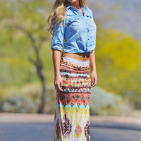 A Beautiful World Maxi Skirt - Rustic Coral