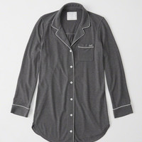 Womens Menswear Sleep Shirt | Womens New Arrivals | Abercrombie.com