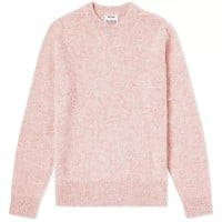 Pink Melange Knit Sweater by Acne Studios