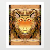 Abstract Wolf Art Print by Gift Of Signs