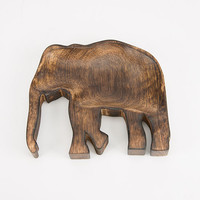 Elephant Wood Tray | Decor