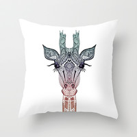 GiRAFFE Throw Pillow by Monika Strigel