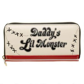 Suicide Squad Harley Quinn Daddy's Little Monster Zip Wallet  