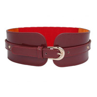 Red Belt with Stud Details