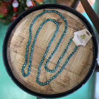 Emerald Green long beaded necklace