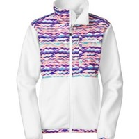 The North Face Denali Jacket - Women's TNF White/Mult-Color Chevron Print X-Small