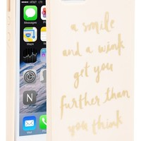 kate spade new york 'a smile and a wink' iPhone 5& 5s case