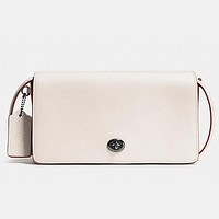 COACH Women Shopping Leather Crossbody Satchel Shoulder Bag