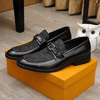 lv men fashion boots fashionable casual leather breathable sneakers running shoes 100