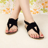 Women Flat Heel Flip-Flop Flip Casual Sweet Sandals For Woman Shoes (US Size) [8424215431]