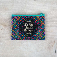 it's the little things recycled zip coin purse