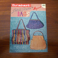 "Vintage 1960s Booklet Turabast ""Swiss Straw Bags by Myart"" / Contains 9 Knitted and 11 Crocheted Designs / Retro Do It Yourself Bag Making"