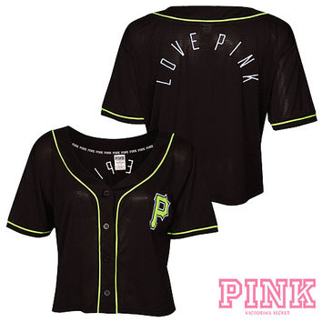 Pittsburgh Pirates Victoria's Secret PINK® Crop Baseball Jersey - MLB.com Shop
