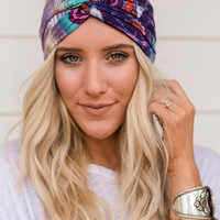 Sparrow Purple Wonders Wide Headband