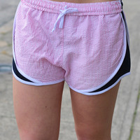 Seersucker Running Shorts {Red + Navy}