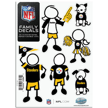 Pittsburgh Steelers NFL Family Car Decal Set (Small)