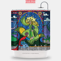 Beauty and the Beast Enchantress Disney Shower Curtain Home & Living 079