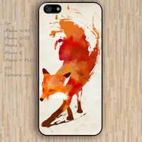 iPhone 4 5s 6 case watercolor hao pink fox dream colorful phone case iphone case,ipod case,samsung galaxy case available plastic rubber case waterproof B642
