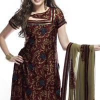 Embroidered Indian Suits | FashionStyleCry: Bridal Dresses, Women Wear, Makeup
