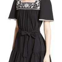 kate spade embroidered a-line dress   Nordstrom