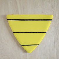 The Inverted Pyramid Purse - bright yellow triangle shape clutch