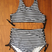 Vintage High Waist Bikini Swimsuit Swimwear