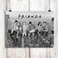 Friends TV Show Lunch Atop a Skyscraper Poster Print Wall Decor Canvas Print - piegabags.com