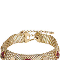 CASINO ROYALE PINK AND GOLD PAVE MESH CHOKER