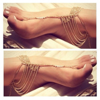 Gold Glam Foot Chain