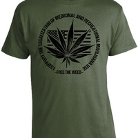 Free The Weed Marijuana Legalization T-Shirt