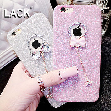 LACK Hot! Luxury Candy Crystal Bling Glitter Powder Shine soft Phone Cases Cover For iPhone 5 5s 6 6 7 plus Case Fundas Skin New