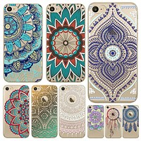 Colorful Dreamcatcher Phone Cases For Apple iPhone 7 6 6s Case Cover Soft TPU Silicon Back Skin Floral Paisley Flower Mandala