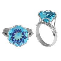 """SR-7993-BT-5"""" Sterling Silver Ring With Blue Topaz Q."""