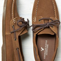 AEO Men's Leather Boat Shoe (Brown)