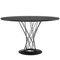 Cyclone Stainless Steel Dining Table in Black