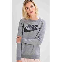NIKE Fashion Casual Trending Women Hot Hoodie Cute Sweater White G
