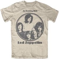 """New Led Zeppelin """"An Evening With Led Zeppelin Photo"""" Classic Rock Adult T-Shirt"""