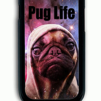 Samsung Galaxy S3 Case - Rubber (TPU) Cover with Funny Pug Life On Galaxy Rubber Case Design