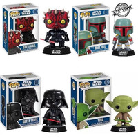 Funko POP Star Wars Darth Vader Derth Maul Yoda Boba Fett Shake Head Cute Action Figures Kids Gifts Toy #FB