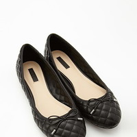 Quilted Faux Leather Ballet Flats