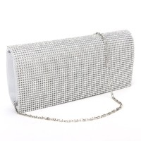 Trendy Shimmering Diamante Cover Clutch Purse Prom Night Out Bridal Lady Handbag